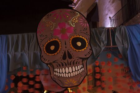 I the dead here in Mexico had a great time among colorful flowers skull nights, music and fun in the streets