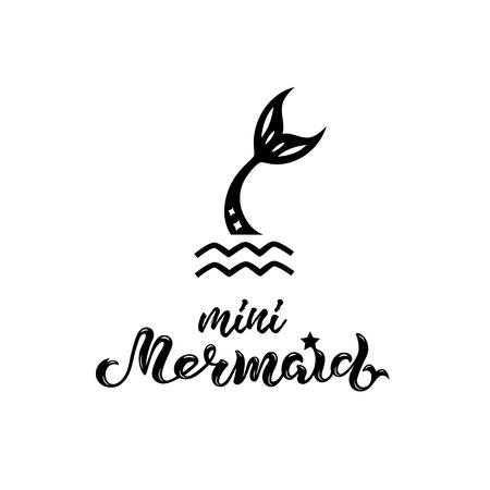 Handgeschriebene Beschriftung der Meerjungfrau