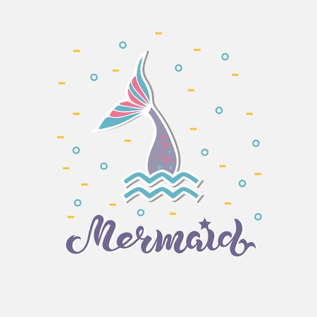 Mermaid handwritten lettering