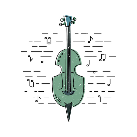 Contrabass icon isolated on background. Flat style. Vector illustration