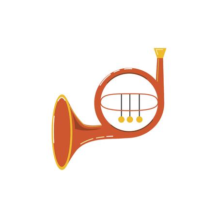 Icône de cor français isolé sur fond blanc. Style plat. Illustration vectorielle