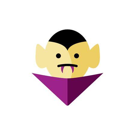 Vampire head icon. illustration isolated on white background. Flat style design. Illusztráció