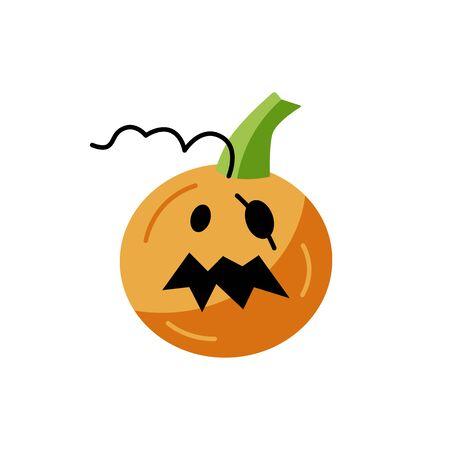 Halloween pumpkin isolated on white background.