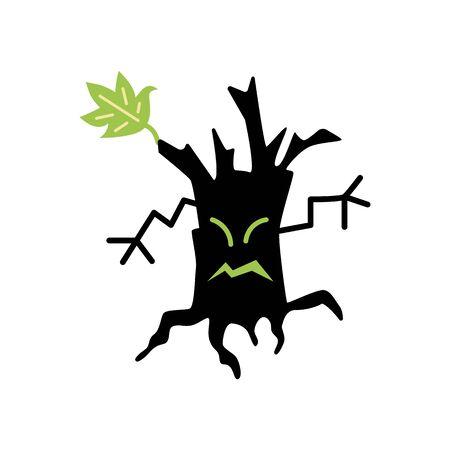 Halloween monster tree icon. Illusztráció