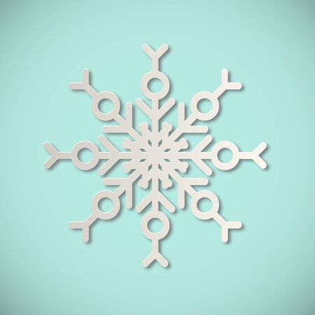 Snowflake vector illustration isolated on background. Flat style design.