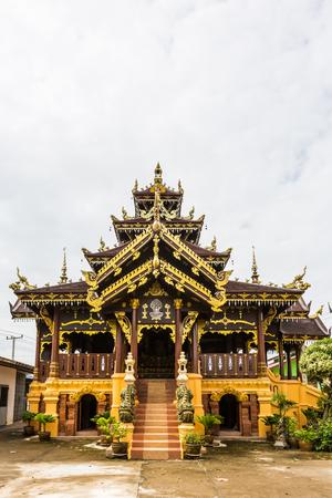 architech: Thai style pavilion in Thai temple