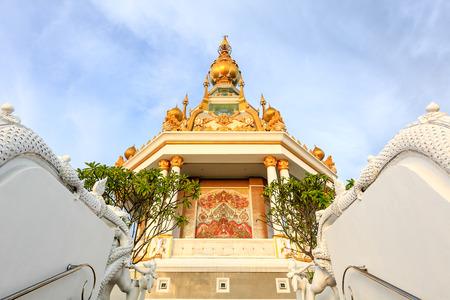buddism: A beautiful buddism Thai pagoda