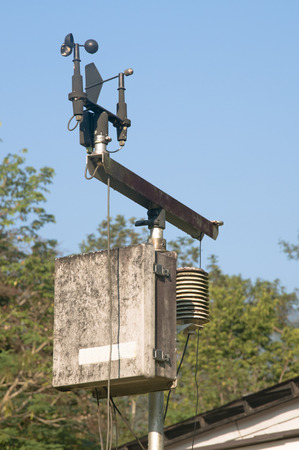 meteorological: Anemometer and device meteorological sensor for cultivation farm Stock Photo