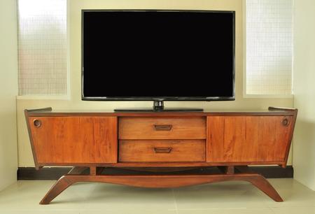 retro Television cabinet in room photo