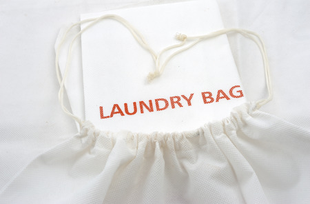 guest white fabric laundry bag photo