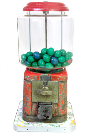 gumball: Antique Gumball Machine Isolated On White Background