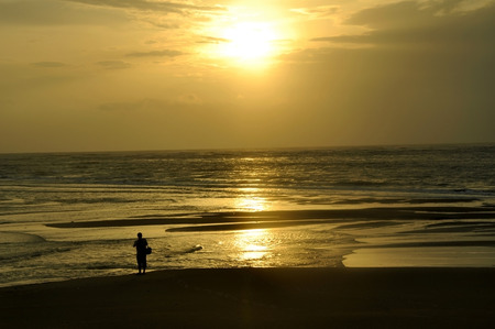 sunset Khao Lak beach Thailand photo