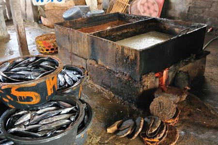 fish sauce: fish sauce traditional tank production