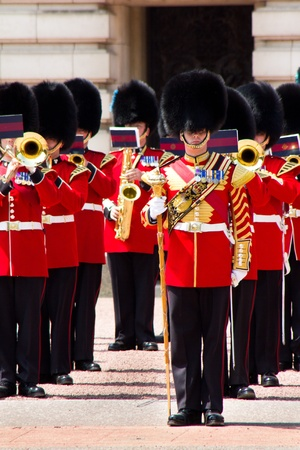 Marching at Buckingham Palace
