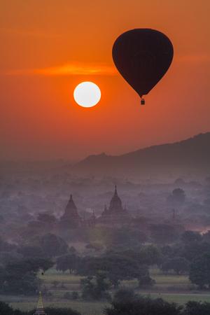 Sun rise at Bagan Myanmar Stok Fotoğraf
