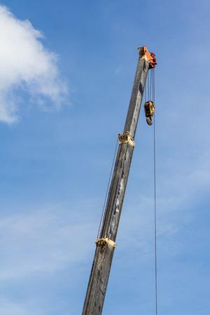 hoist: hoist of crane truck Stock Photo