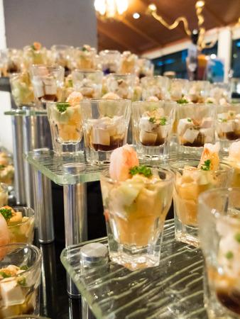 Buffet food and dessert, cocktail bar