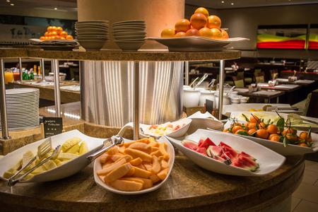 fruit counter Stok Fotoğraf
