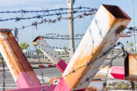 barrier: Barbed wire Barrier