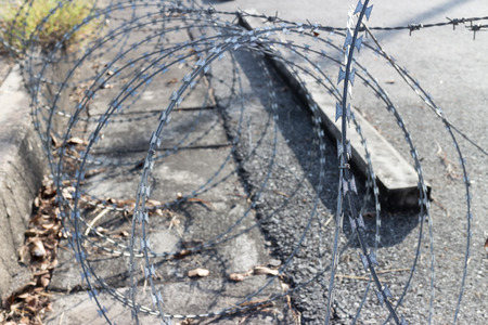 barrier: Barbed wire Barrier