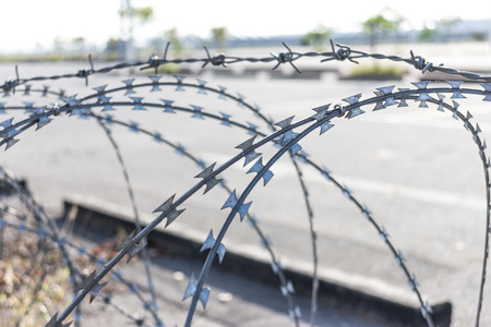 barbed wire: Barbed wire Barrier