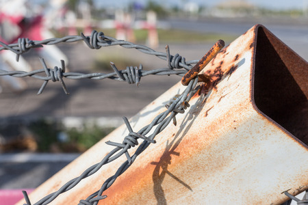 jail break: Barbed wire Barrier