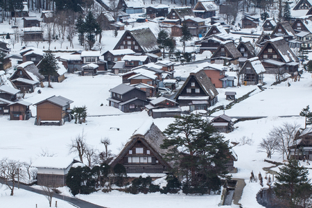 Night at Historic Villages of Shirakawa-go Stok Fotoğraf - 56471591