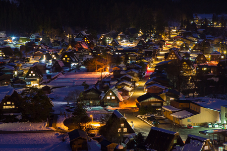 Night at Historic Villages of Shirakawa-go