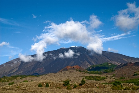effusion: The mountain of the island sicily
