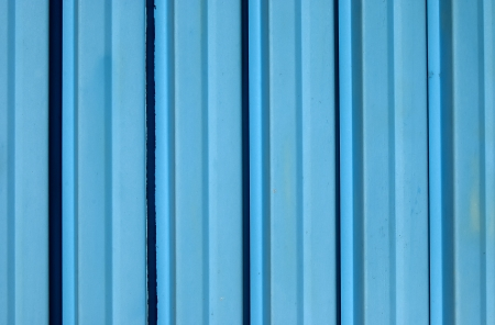 goffer: Blue color corrugated iron sheet as background