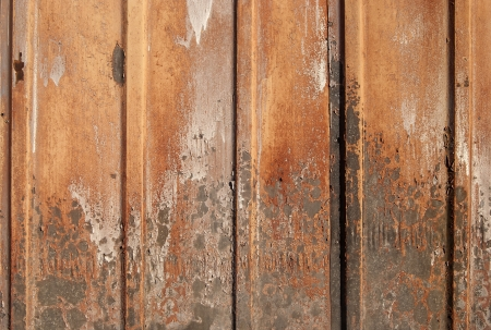 goffer: Old corrugated rusty iron sheet as background