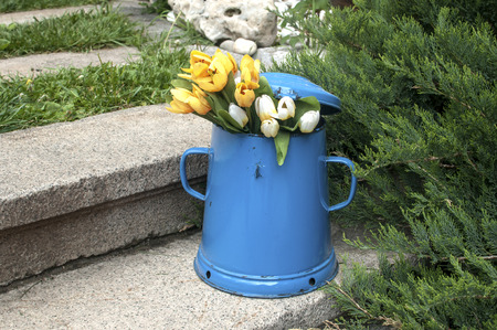 Wonderful Kitchen Bin Images  Stock Pictures Royalty Free Kitchen Bin  With Exciting Kitchen Bin Blue Retro Metal Enamel Jug On Old Stone Steps In Back Yard  House With Endearing Wooden Garden Canopy Also Garden Gifts Uk In Addition Royal Botanical Gardens Sydney And Rosemoor Garden As Well As Kingfisher Garden Additionally Galveston Gardens From Rfcom With   Exciting Kitchen Bin Images  Stock Pictures Royalty Free Kitchen Bin  With Endearing Kitchen Bin Blue Retro Metal Enamel Jug On Old Stone Steps In Back Yard  House And Wonderful Wooden Garden Canopy Also Garden Gifts Uk In Addition Royal Botanical Gardens Sydney From Rfcom
