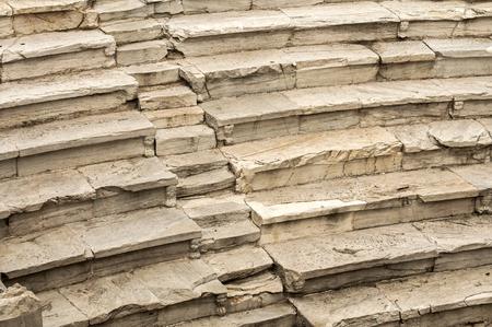 roman amphitheater: Stone marble seats of ancient Roman amphitheater