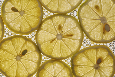 lemon fruit Close up as background makro Stock Photo