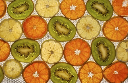 citrus close up as background on a white Stock Photo