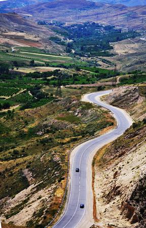 curve: Curve Road paysage.