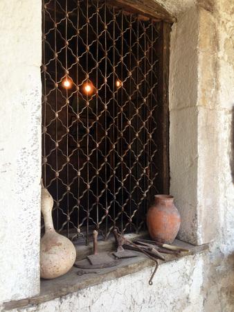 kalabaka: ancient old kitchen. Stock Photo