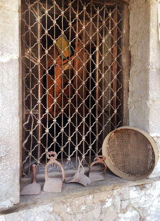 kalabaka: old kitchen antiquity. Stock Photo