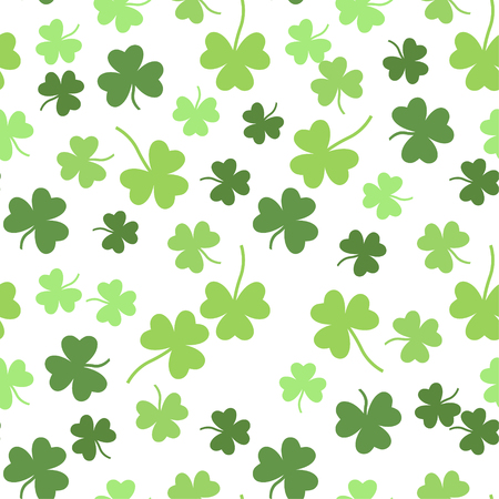 patric background: Seamless vector green shamrock clover background for St. Patricks Day Illustration