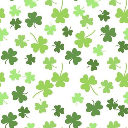 seamless clover: Seamless vector green shamrock clover background for St. Patricks Day Illustration