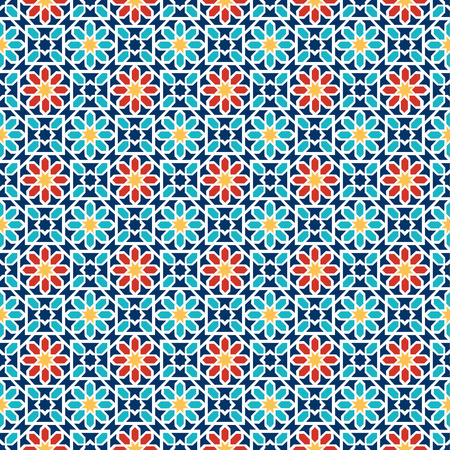 islamic pattern: Islamic seamless pattern. Arabian geometric oriental pattern for holiday cards