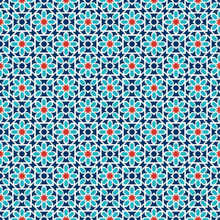 Islamic seamless pattern. Arabian geometric oriental pattern for holiday cards