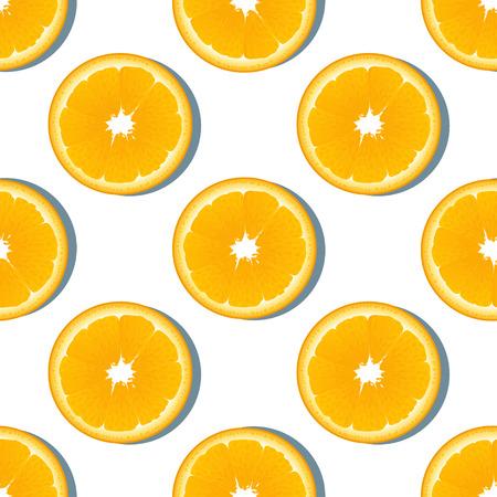 orange slice: Orange slice fruit seamless pattern. Citrus color background