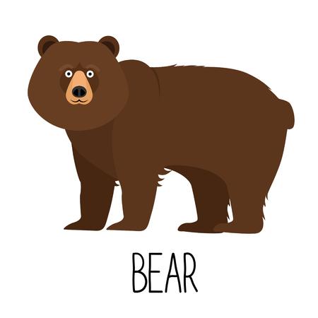 Vector illustration of cute cartoon bear isolated Фото со стока - 75419746