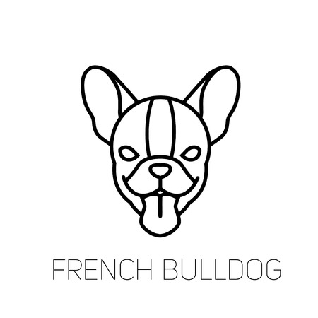 4825 Dog French Bulldog Stock Vector Illustration And Royalty Free