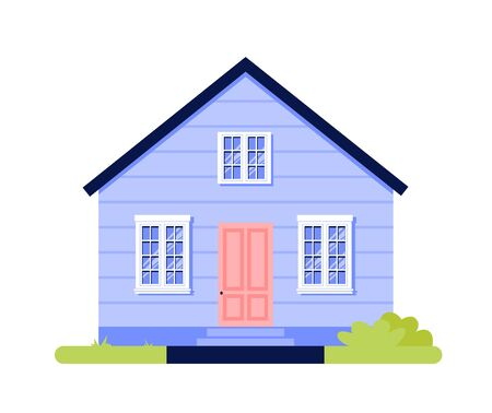 House simple cartoon icon isolated on white background vector illustration Ilustração