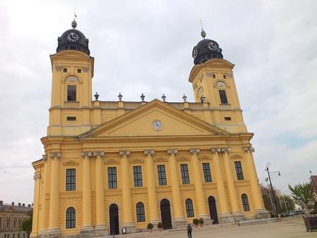 The Big church in Debrecen Stock Photo