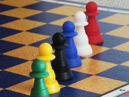Board game for family fun with some pieces of it
