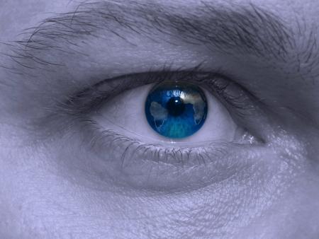 sch�ler: Close-up Bild von einem Auge Lizenzfreie Bilder