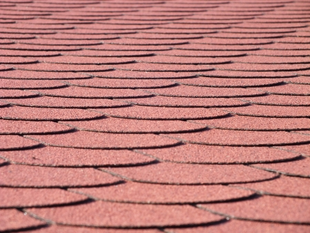 Shingles on the roof photo